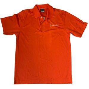 NIKE GOLF PROMETHEAN Orange Dri-Fit Polo Shirt S